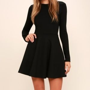 NWT Lulu's forever Chic Black Dress